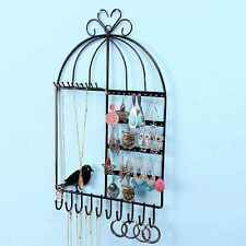 Wall-mounted Stand Holder Rack Jewelry Earring Necklace Bracelet Display Hook