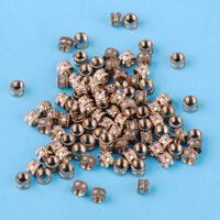 100pcs M3 x 3mm Brass Knurled Thread Nuts Insert Embedded Nuts