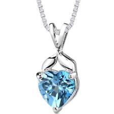 Collares y colgantes de joyería topacio, con amor y corazones