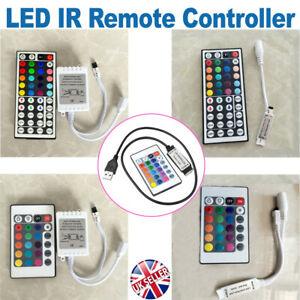 4/5Pin 3/24/40/44 Key Mini IR Receiver Remote Controller for RGB LED Strip 5050