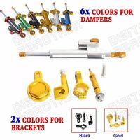 Steering Damper & Mounting Kit Anodized For Yamaha YZF-R1 98 99 00-05