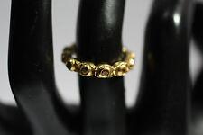 Beautiful Rosette Design Yellow Sapphire 18K Yellow Gold Ring REDUCED!!