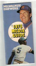 1973 Milwaukee Brewers Media Guide
