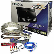 Kenwood KAC-9106D Class D Monoblock 1000W RMS Car Amplifier w/ Wiring Kits