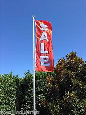 Sale Vertical Flag (300cm x 100cm) for flag poles - GST Tax invoice provided