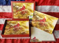 NEW Box 18 Christmas Cards & 19 Envelopes December Dawn Cardinal R Millette Lang