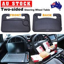Black Car Steering Wheel Tray Table Laptop Stand Work Desk Holder Clip Mount AU