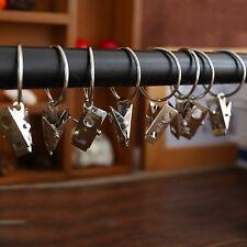 10 tlg  Multi-Funktions-Fenster-Vorhang Kleidung Metallclips mit Ring Haken Satz
