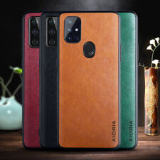 For OnePlus 8T+5G Nord N10 5G N100 8 Pro Luxury TPU Leather Case Slim Back Cover