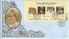 St.Kitts 1998 Benham Princess Diana MS FDC
