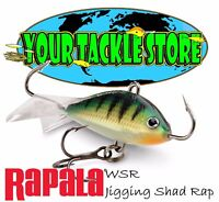 Rapala WSR 02 03 05 Jigging Shad Rap You Pick Colors Size & Quantity NIP