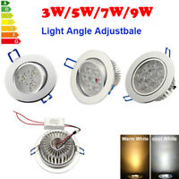 3W 5W 7W 9W LED Recessed Ceiling Panel Downlight Fixture Lamp Spot Light +Driver