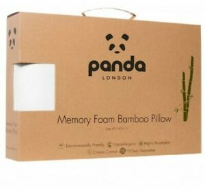 Panda Memory Foam Bamboo White Pillow Tripe Layer Soft Luxury Hypoallergenic