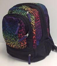 JanSport AIR CURE Black Amethyst Animal Print Laptop Backpack
