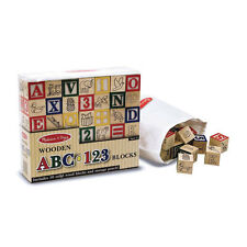Melissa and Doug * Wooden ABC 123 Blocks * NEW classic toy alphabet numbers