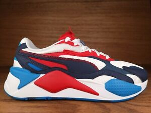 PUMA RS-X3 USA Olympic Athletic Lifestyle Shoes Mens Size 12 Red White Blue