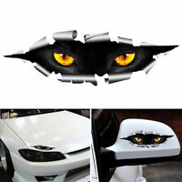 2pcs Funny Car Styling Cat Eyes Peeking Car Sticker Waterproof Auto Accessories