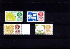 Mexico Exporta#1135b,1136a,1137,1138 high florescent frt. Paper 7,unwmk.MNH.