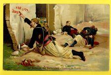 Carte Postale Illustration d'Après Jules MONGE Le DERNIER du BATAILLON 2è ZOUAVE