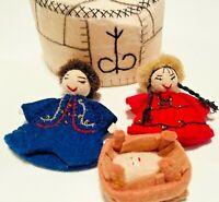 MONGOLIAN NATIVITY YURT Silk Road Bazaar Felted Wool Handmade