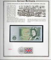 Great Britain 1 Pound 1978-84 P 377b UNC w/FDI UN FLAG STAMP Prefix AN09