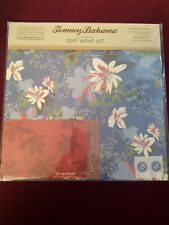 Tommy Bahama Wrapping Paper Gift Wrap Kit 2 Sheets, 2 gift cards, 2 seals New a