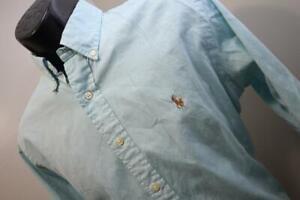 Polo Ralph Lauren Dress Shirt Classic Fit Blue Mens Size 15.5 34/35 Medium