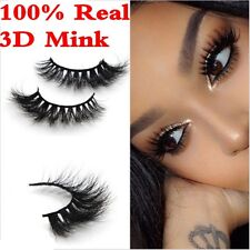 100% Real Siberian Mink Strip Eyelashes 3D Mink Lilly Miami 3D Full Strip Lashes