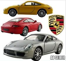 3 X 1:35 Porsche Carrera S DieCast Model Car Pull Back Friction Toy 3 Colors