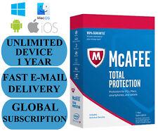 McAfee Total Protection illimitée Device 1 An (abonnement) 2018 No Code Clé!
