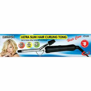 Omega Hair Curling Tong, 11 mm CT311 Slim Barrel Swivel Cord