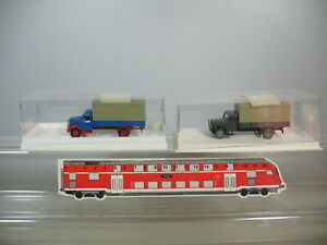 D518-0,5# 2x BREKINA H0/1:87 LKW Magirus 4101 d Bundesbahn+Borgward 4300 TOP+OVP