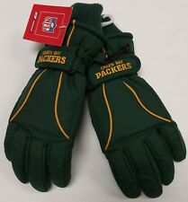 Green Bay Packers Youth Ski Gloves By Reebok - Size 4 - 7 Years New