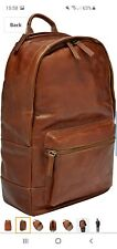 Fossil Men Defender Leather Trim Rucksack Backpack 100% genuine  fossil products