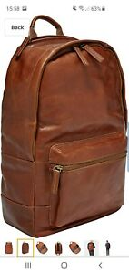 Fossil Men Defender Leather Trim Rucksack Backpack 100% genuine  fossil products