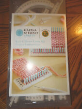 NEW MARTHA STEWART CRAFTS LION BRAND KNITTING WEAVE LOOM KIT INSTRUCTION BOOK
