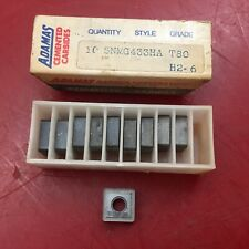 Qty 10 Adamas Cemented Carbide Inserts SNMG433HA T80 H2-6