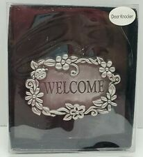 Welcome Metal Door Knocker~Approx. 5 x 3.5 in.~The Spring Shop~Hobby Lobby