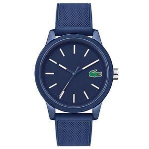 Lacoste 2010987 Men's 12.12 Blue Resin Wristwatch