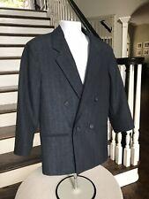 Michael James Boys 6-7 Reg Navy Blue Double Breasted Blazer Sport Coat Jacket