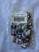 Longaberger Fabric Liner Woven Traditions Plaid For XS Gate House Basket 2042328