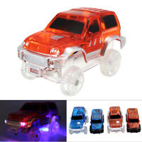 Magic Inductive Racetrack Car Track Toy LED Flashing Lights Up Glow in the Dark