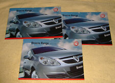 Vauxhall Breeze SE Range,2008 Models, Corsa D, Astra H, Meriva A, Zafira B X 3