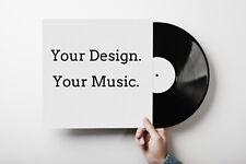 "Custom Vinyl Records 12"" Black 45RPM mixtape Your own music on vinyl record"