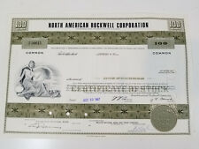 Vtg North American Rockwell Corp Stock Certificate Aerospace
