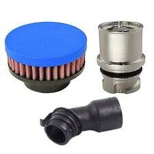Valve Cover Breather Oil Cap for Twin Turbo 2011-16 Mustang GT (Wrinkle Blue)