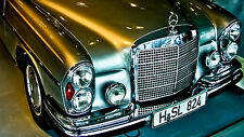 "Poster 24"" x 36"" Old Car 300 Sel 63 Mercedes Benz"