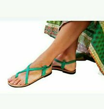 Green Greek Handmade Leather Sandals