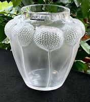 Lalique French Crystal Bali Vase New with Box & Papers Signed Authentic Gorgeous