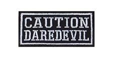 Caution Daredevil Biker Heavy Rocker Patch Aufnäher Kutte Bügelbild Badge Stick